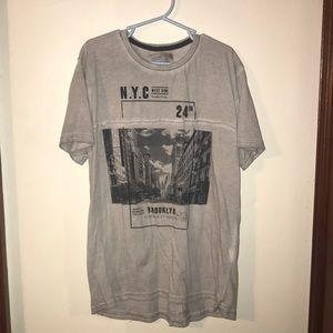 Zara youth Brooklyn t shirt gray and black size 10